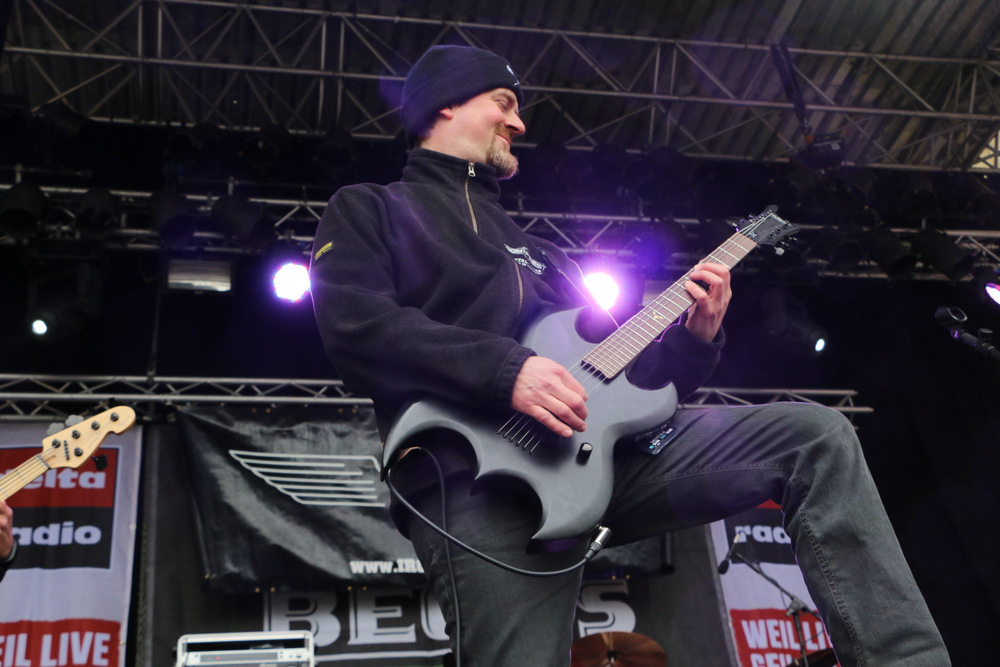 Iron Priest beim Hafen Rock 2017 | &copy Michael Spangenberg